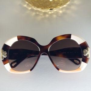 CHLOE Women's CE743S Gold Pathwork Sunglasses 54mm